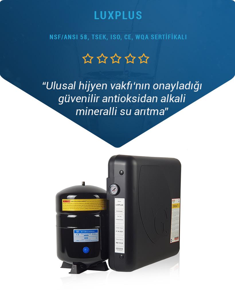 NSF/ANSI 58 Sertifikalı Luxplus Su Arıtma Cihazı