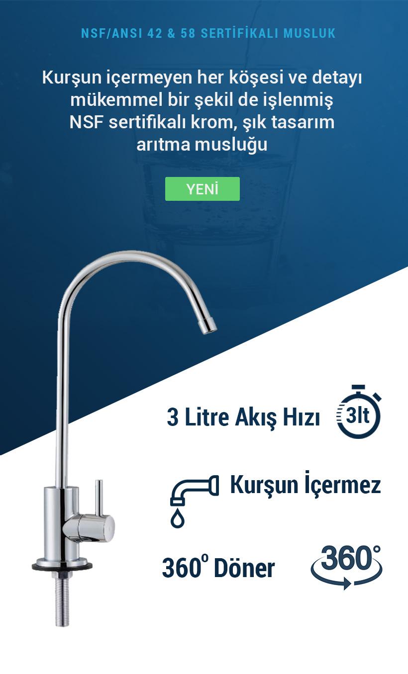 Alya NSF 58 ve 42 Onaylı Su Arıtma Musluğu