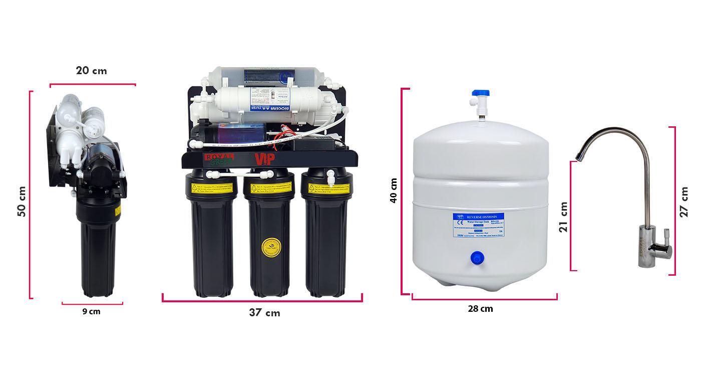 Vip Su Arıtma Cihazı Ölçüleri