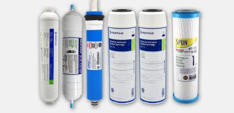 Altılı pentair filtre seti filmtec membranlı bioceralı